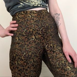 Pants - Beautiful vintage pants with gold detailing